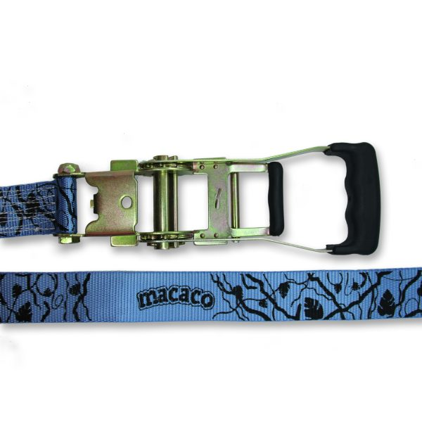 Macaco Travel Slackline rubber handled ratchet and webbing