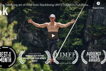 The Terrifying art of Free Solo Slacklining (Full Movie)